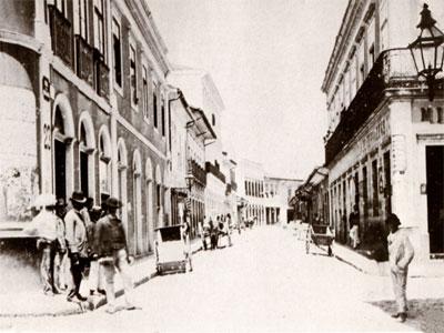 Historische Aufnahme von Sao Paulo aus dem Jahre 1887